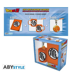 "Gift Pack Dragon Ball - Mug 320cl + Keyring + Cahier ""Kame Symbol"""