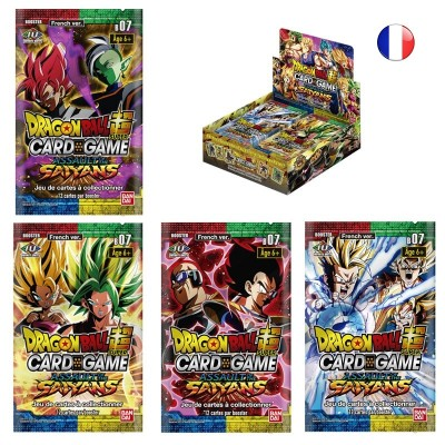 "JCC - Booster ""L'Assaut des Saiyan"" B07 - Dragon Ball Super Serie 7 (FR) - (24 boosters)"