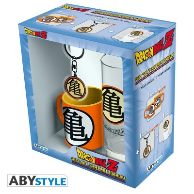 "Gift Pack One Piece - Verre 29cl + porte-clef + Mini Mug ""Kame Symbol"""