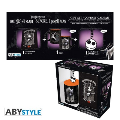 "Gift Pack Disney - Mug 250ml + Porte-clés + Cahier ""Nightmare Before Christmas"""