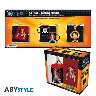 "Gift Pack One Piece - Mug 320cl + Keyring + Cahier ""Luffy"""
