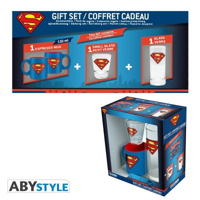 "Gift Pack Superman - Verre 29cl + shooter + Mini Mug ""Superman"""