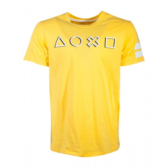 T-shirt - Playstation - Touches fond jaune