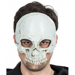 Demi-Masque Tête de Mort - Latex