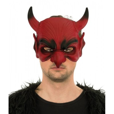 Demi Masque Diable Rouge Supersoft - Latex