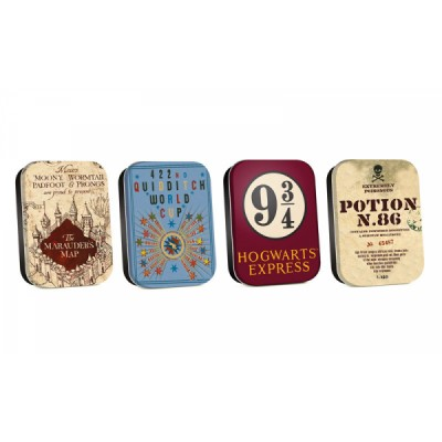 Boîte aluminium - Harry Potter - Set de 4