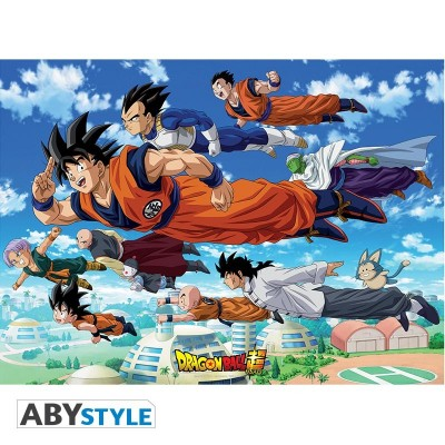 "Dragon Ball Super - Poster ""Groupe Goku"" roulé filmé (91,5x61)"