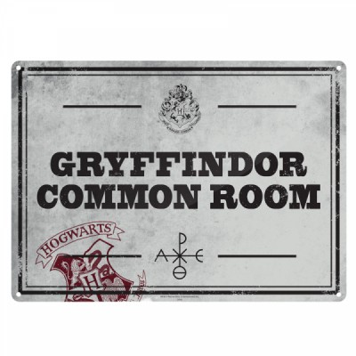 Plaque en métal - Gryffondor Common Room - Harry Potter