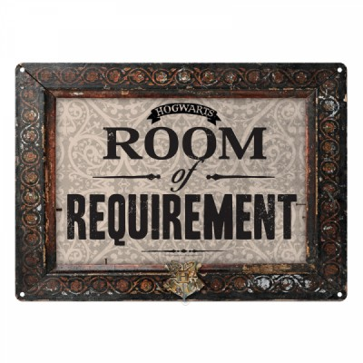 Plaque en métal - Room of Requirement - Harry Potter