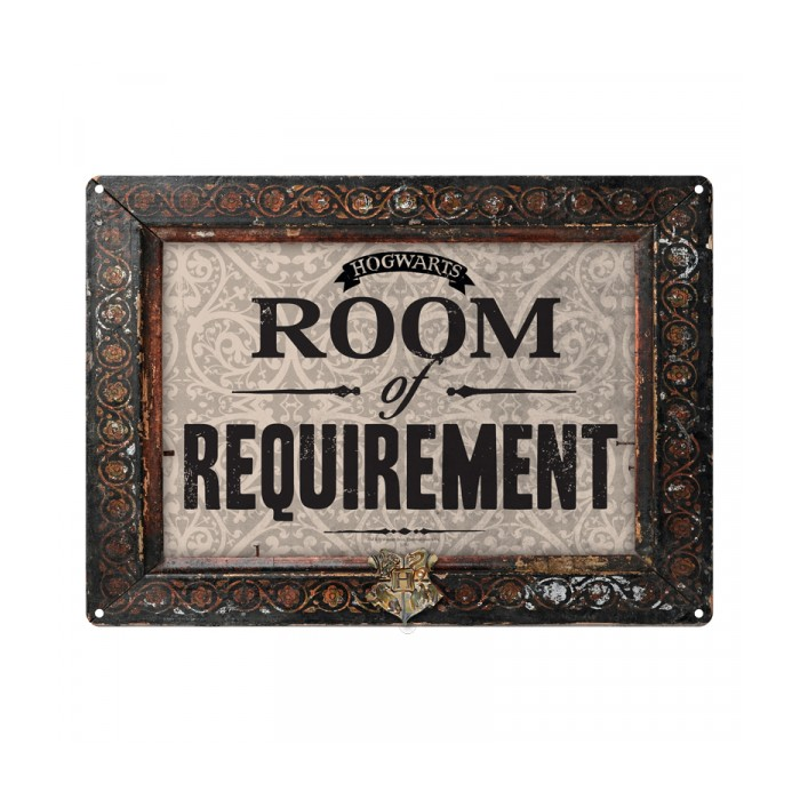 Plaque en métal - Room of Requirement - Harry Potter