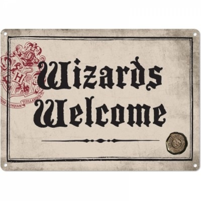 Plaque en métal - Wizards Welcome - Harry Potter
