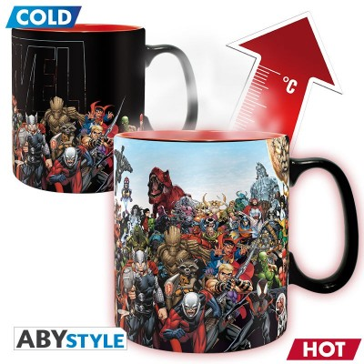 Mug - Marvel - Thermo Réactif - Heros - 460ml