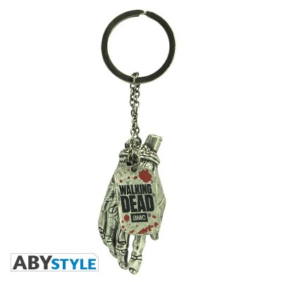Porte-Clef 3D Métal - Main de Zombie - The Walking Dead