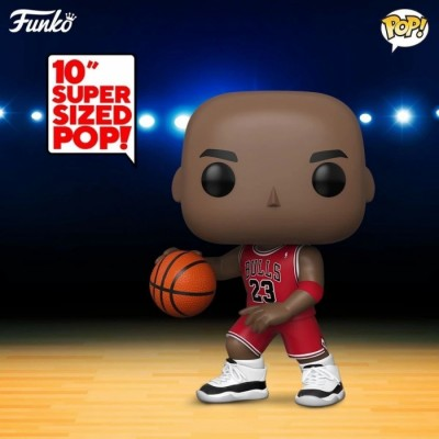 Michael Jordan (Red Jersey) - NBA : Bulls (...) POP Sport - Super Oversize 10' - Exclusive