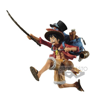 Monkey D. Luffy - One Piece - Three Brothers Figure - 11cm