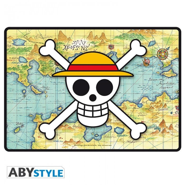 Tapis de souris gaming - One Piece - Skull with map
