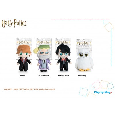 Peluches - assortiment Harry Potter - Harry Potter / Ron Weasley / Dumbeldore / Hedwig - 29cm (20 pcs)