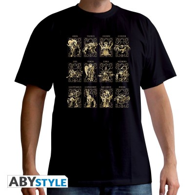 T-shirt - Saint Seiya - Les 12 armures d'or - XL