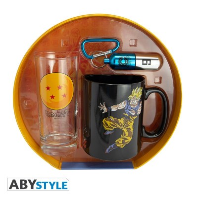 Gift Pack - Dragon Ball - Verre 29cl + Prote-clef 3D + Mug HC