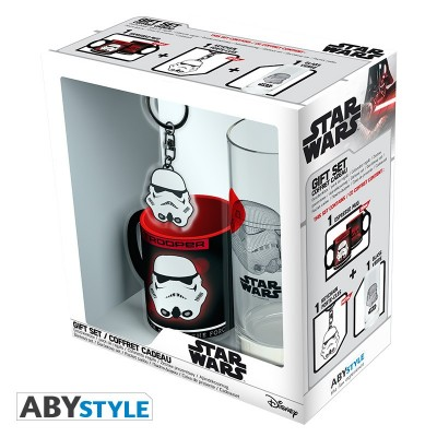 "Gift Pack Star Wars - Verre 29cl + Porte-clefs + Mini Mug ""Trooper"""
