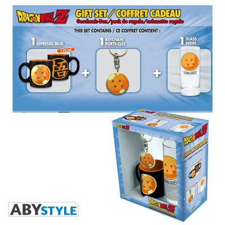 """Gift Pack Dragon Ball - Verre 29cl + Porte-clefs + Mini Mug """"Boule de cristal"""""""
