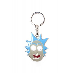 Porte-clef Métal - Rick Tête - Rick et Morti