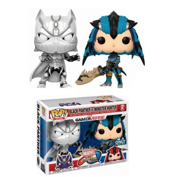 Black Panther vs Monster Hunter (vertion blanc et bleu) - Marvel vs Capcom - POP Games