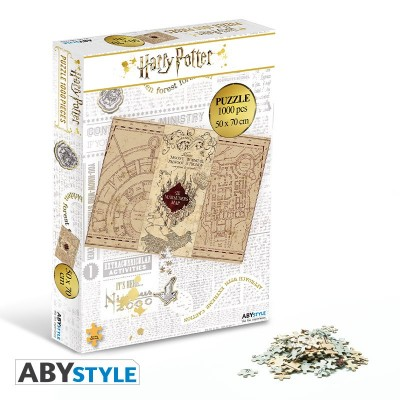 Puzzle 1000 pièces - Harry Potter - Carte du Maraudeur