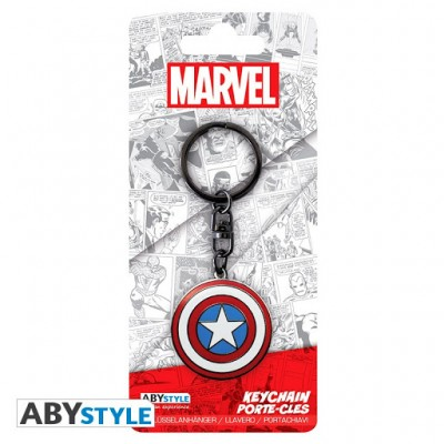 Porte-Clef Métal - Captain America Shield - Marvel . Avengers