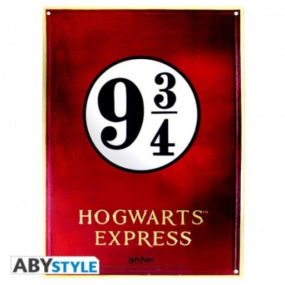 Plaque Métalique - Hogwarts Express - Harry Potter (28x38)