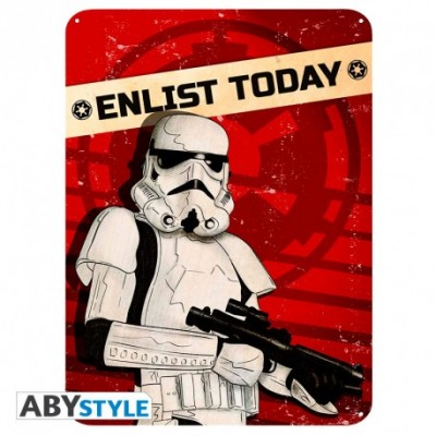 Plaque Métalique - Enlist Today - Star Wars (28x38)
