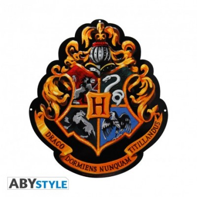 Plaque Métalique - Hogwarts Crest - Harry Potter (28x38)