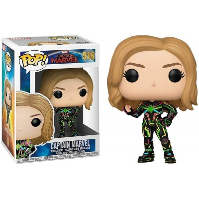 Captain Marvel w/Neon Suit - Captain Marvel (516) - POP Marvel - Exclusive
