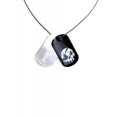 Colier Métal - Grey and Black Dogtag Necklace - Sea Of Thieves