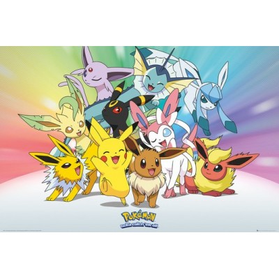 Poster - Pokemon - Pokemon Evoli & Evolutioni (61x91.5CM)