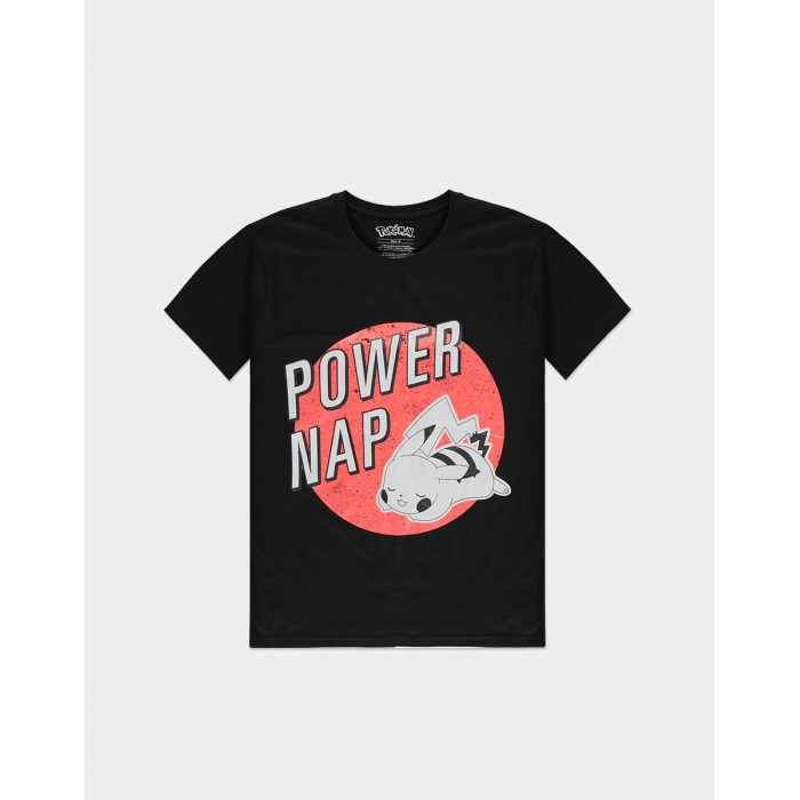 T-shirt - Power of Nap - Pokemon - Pikachu