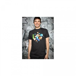 T-Shirt Blizzard - Run Away Glowin The Dark - Black - Minecraft - XL