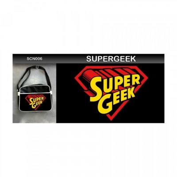 Sac coursier Neko - Super Geek - Noir