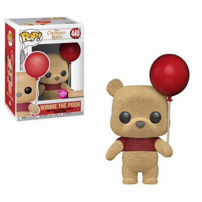 Winnie the pooh with Balloon Flocked - Christopher Robin (440) - Pop Movies