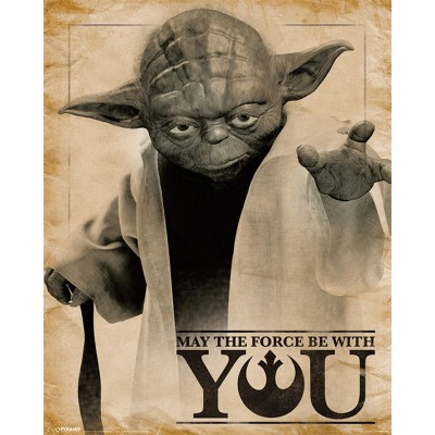 Mini Poster - Yoda, May the Force be With You - Star Wars