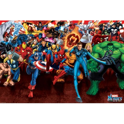 Maxi Poster - Heroes Attack - Marvel
