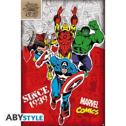"Marvel - Poster ""Heros 1939"" - roulé filmé (91.5x61)"