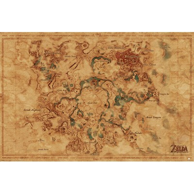 Maxi Poster - Hyrule World Map - The Legend Of Zelda: Breath Of The Wild