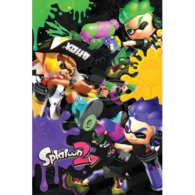 Maxi Poster - 3 Way Battle A - Splatoon 2