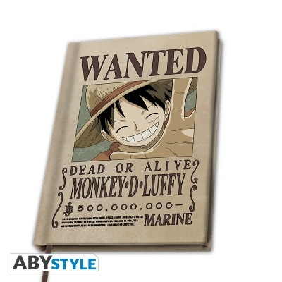 Carnet de Note - One Piece - Wanted Luffy - A5