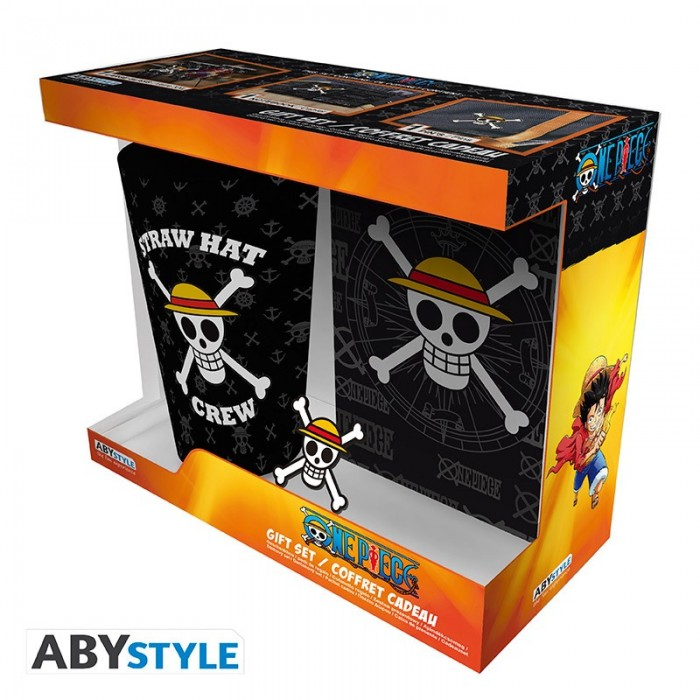 """Gift Pack One Piece - Verre XXL + Cahier + Pin's """"Skull"""""""