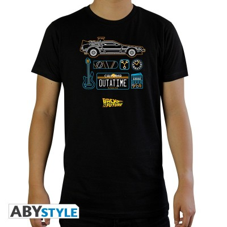 T-shirt - Retour vers le Futur - Delorean - XL Homme