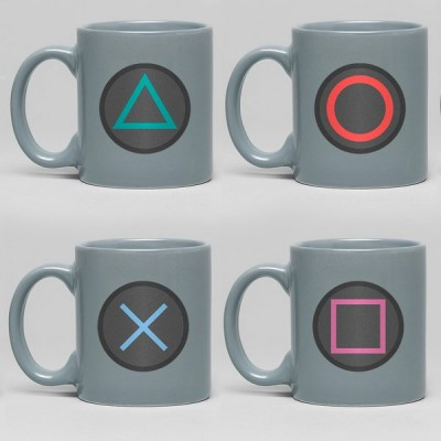 Set de 4 - Mini Mug - Playstation - Buttons