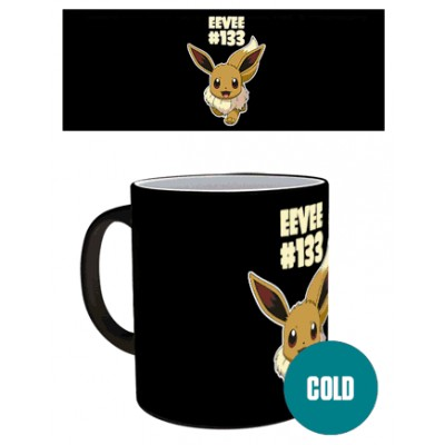 Mug - Pokemon - Evoli- Thermo Réactif
