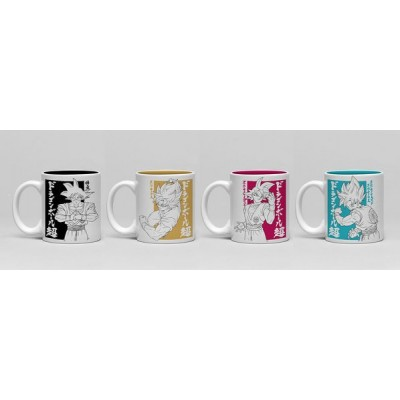 Set de 4 - Mini Mug - Dragon Ball Super - Goku